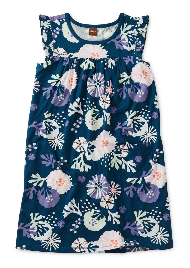 Tea Collection Mighty Flutter Sleeve Dress (Toddler Girls, Little Girls & Big Girls)