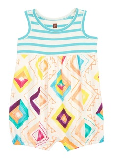 Tea Collection Mixed Print Romper (Baby Girls)