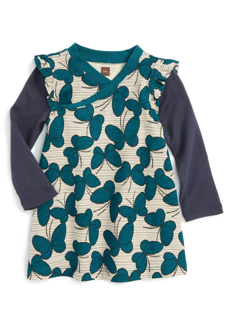 Tea Collection Nansei Wrap Neck Dress (Baby Girls)