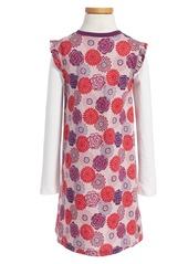 Tea Collection Nara Wrap Neck Dress (Toddler Girls, Little Girls & Big Girls)