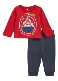 Tea Collection Noodling Around T-Shirt & Sweatpants Set (Baby)