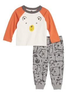 Tea Collection Osito T-Shirt & Pants Set (Baby Boys)