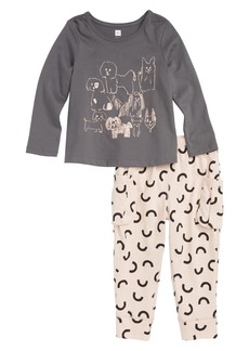 Tea Collection Pack of Pups Tee & Leggings Set (Baby Girls)