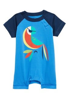 Tea Collection Parrot Romper (Baby Boys)