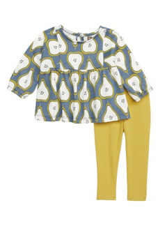 Tea Collection Pear Print Top & Leggings Set (Baby Girls)