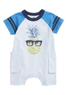 Tea Collection Pineapple Cargo Romper (Baby)