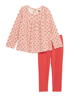 Tea Collection Pleated Swing Top & Leggings Set (Baby Girls)