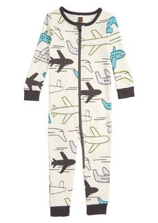 Tea Collection Print Fitted One-Piece Pajamas (Baby Boys)