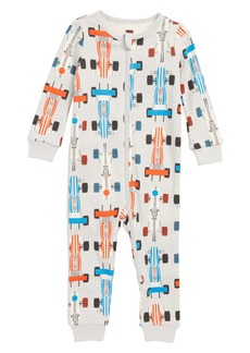 Tea Collection Print Fitted One-Piece Pajamas (BabyBoys)
