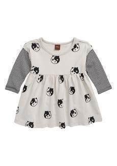 Tea Collection Print Layered Sleeve Dress (Baby)