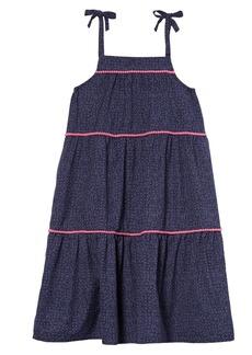 Tea Collection Print Pom Dress (Toddler Girls, Little Girls & Big Girls)