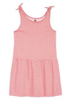 Tea Collection Print Tie Shoulder Dress (Toddler Girls, Little Girls & Big Girls)