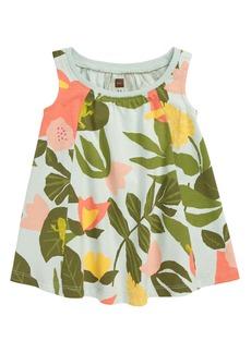 Tea Collection Print Trapeze Dress (Baby)