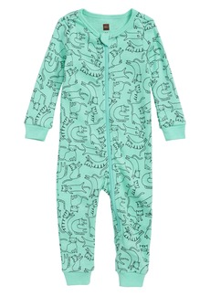 Tea Collection Printed Fitted One-Piece Pajamas (Baby Girls)