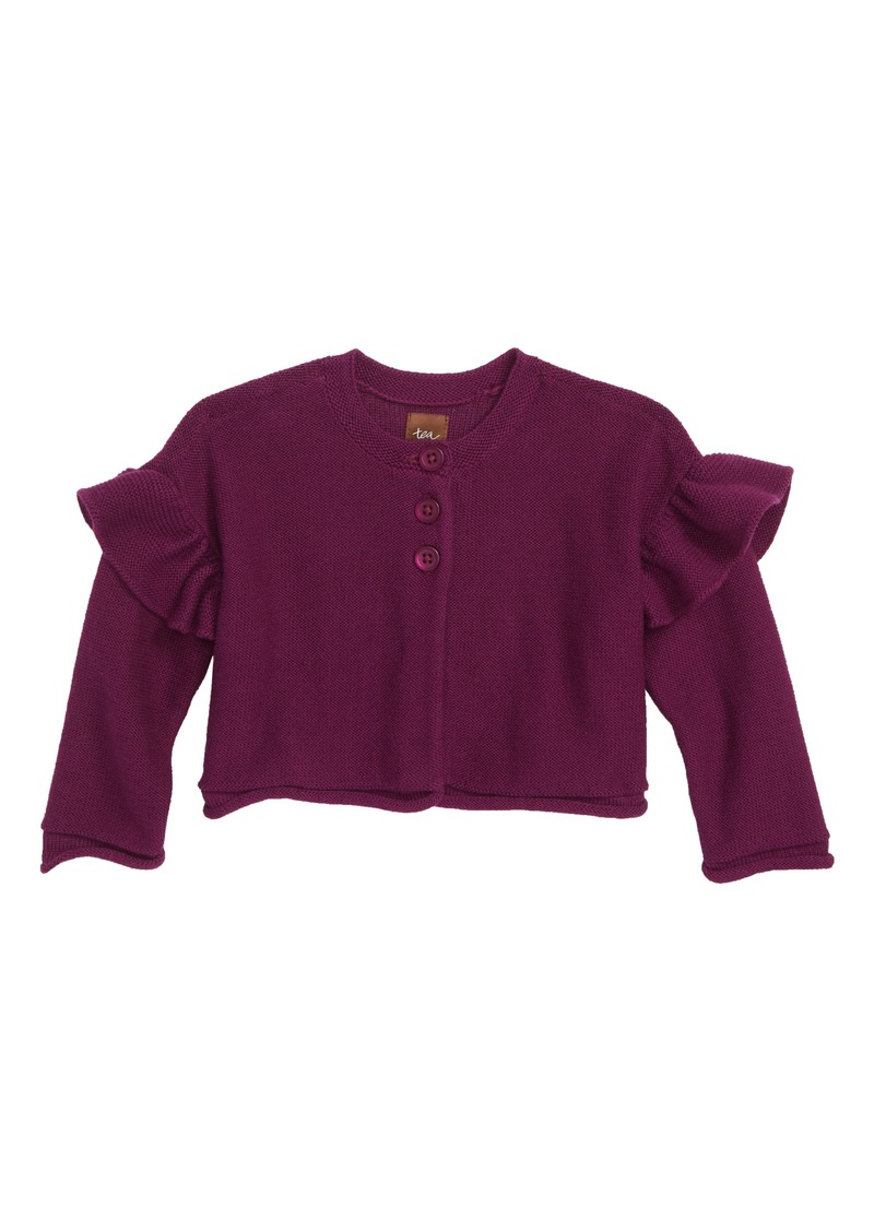 Tea Collection Ruffle Cardigan (Baby Girls)