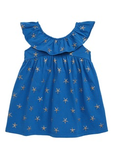 Tea Collection Ruffle Neck Dress (Baby)