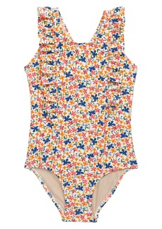 Tea Collection Ruffle One-Piece Swimsuit (Toddler, Little Girl & Big Girl)
