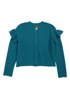 Tea Collection Ruffle Shoulder Cardigan (Toddler Girls, Little Girls & Big Girls)