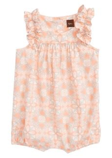 Tea Collection Ruffle Sleeve Romper (Baby Girls)