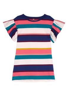 Tea Collection Ruffle Sleeve Stripe Dress (Toddler Girls, Little Girls & Big Girls)