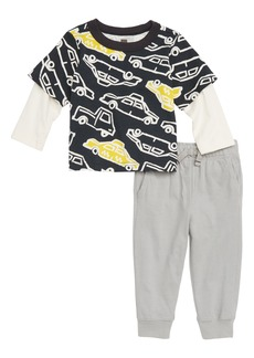 Tea Collection Rush Hour Layer T-Shirt & Pants Set (Baby Boys)