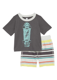 Tea Collection Skateboard T-Shirt & Shorts Set (Baby Boys)