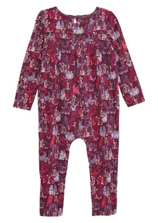 Tea Collection Smocked Romper (Baby Girls)