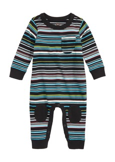 Tea Collection Stripe Knee Patch Romper (Baby)