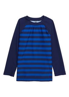 Tea Collection Stripe Long Sleeve Rashguard (Toddler & Little Boy)