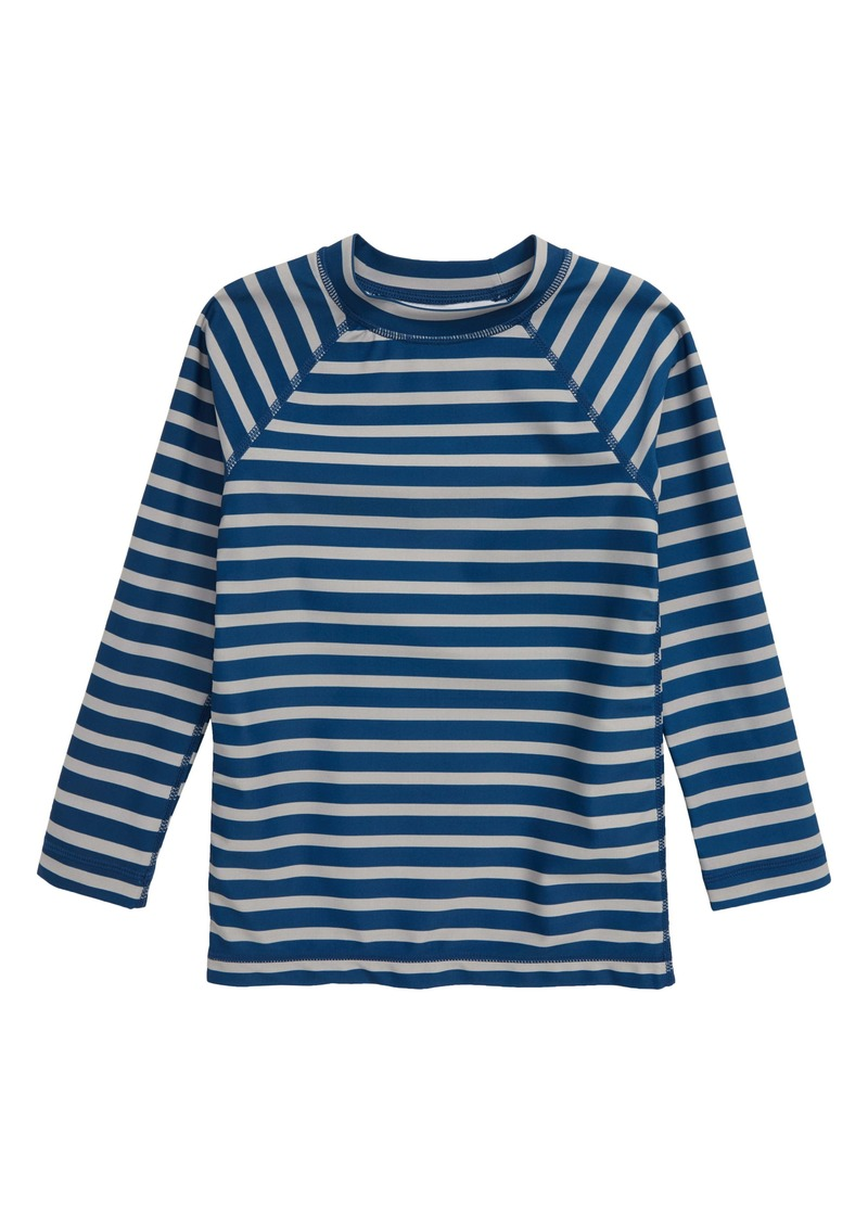 Tea Collection Stripe Long Sleeve Rashguard (Toddler Boys & Little Boys)