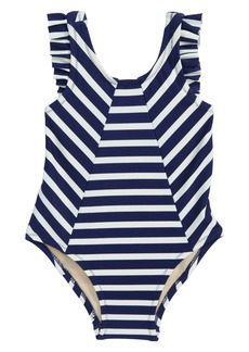 Tea Collection Stripe One-Piece Swimsuit (Baby Girls)