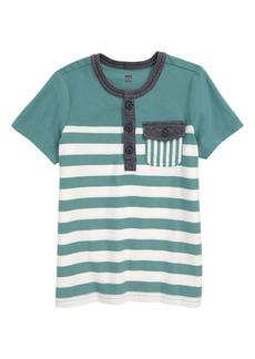 Tea Collection Stripe Pocket Henley (Toddler & Little Boy)