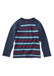 Tea Collection Stripe Raglan T-Shirt (Toddler Boys & Little Boys)