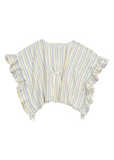 Tea Collection Stripe Sweater Poncho (Toddler, Little Girl & Big Girl)