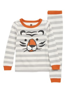 Tea Collection Stripe Tiger Fitted Two-Piece Pajamas (Toddler Boys, Little Boys & Big Boys)