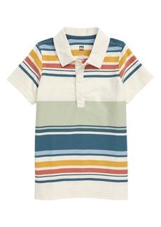 Tea Collection Striped Polo (Toddler & Little Boy)