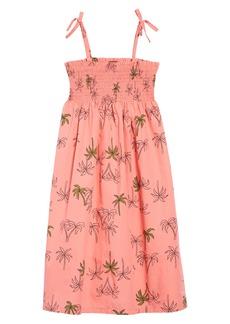 Tea Collection Tie Shoulder Midi Dress (Toddler Girls, Little Girls & Big Girls)