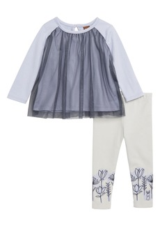 Tea Collection Twirling Tulle Top & Leggings Set (Baby)