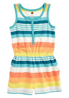 Tea Collection Vibrant Stripe Romper (Toddler Girls, Little Girls & Big Girls)