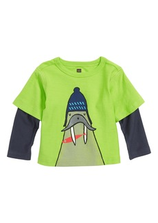 Tea Collection Walrus Graphic Layered Tee (Baby)
