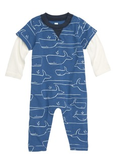 Tea Collection Whale of a Time Layered Romper (Baby Boys)