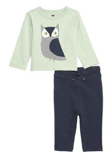 Tea Collection Wise Owl T-Shirt & Leggings Set (Baby)