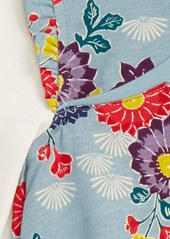 Tea Collection Yukar Wrap Neck Dress (Baby Girls)