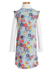 Tea Collection Yukar Wrap Neck Dress (Toddler Girls, Little Girls & Big Girls)