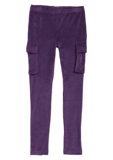 Tea Collection Velour Cargo Pants (Toddler Girls, Little Girls & Big Girls)