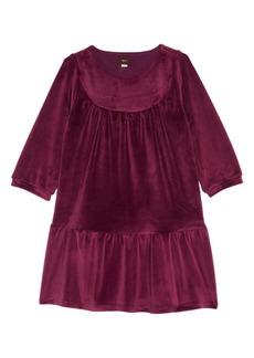 Tea Collection Velour Ruffle Dress (Toddler Girls, Little Girls & Big Girls)