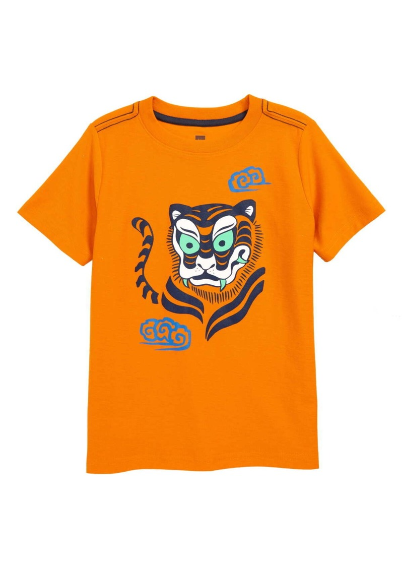Tea Collection Woodblock Tiger Graphic T-Shirt (Toddler Boys, Little Boys & Big Boys)