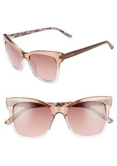 Ted Baker 51mm Full Rim Square Cat Eye Sunglasses