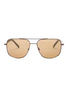 Ted Baker 58mm Full Rim Polarized Navigator Sunglasses