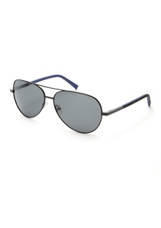 Ted Baker 60mm Aviator Polarized Sunglasses